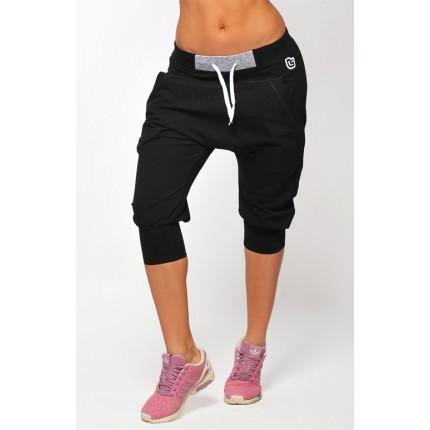 Dámská kolekce - NDN - 3/4 dámské kalhoty s nízkým sedem ILLA (černá)