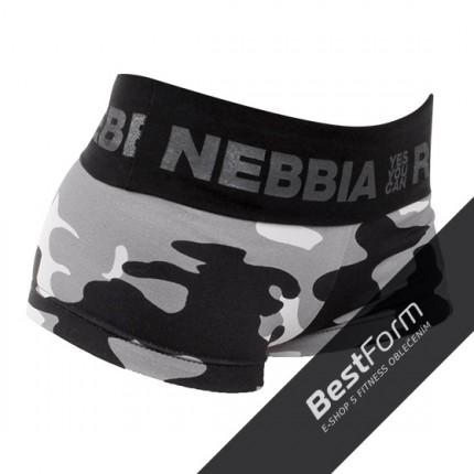 Dámská kolekce - NEBBIA - CAMO kraťasy 245 (šedý maskáč)