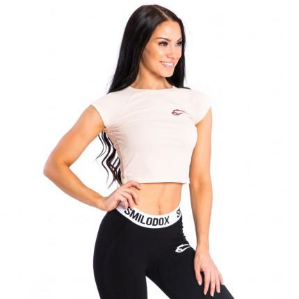 Dámská kolekce - Smilodox - Fitness Crop Top (růžová) (28373)