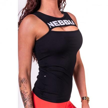 Dámská kolekce - NEBBIA - Tílko Rib Cut Out 678 (černá)