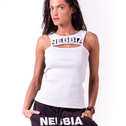 Dámská kolekce - NEBBIA - Tílko Rib Cut Out 678 (bílá)