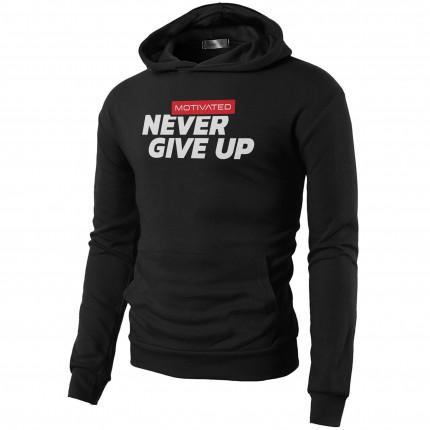 Pánská kolekce - MOTIVATED - Mikina na cvičení Never Give UP 324