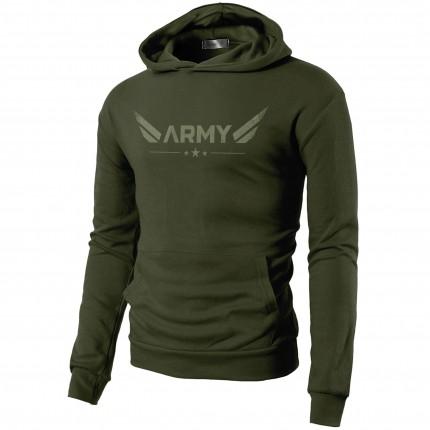 Pánská kolekce - MOTIVATED - ARMY mikina (zelená) 329