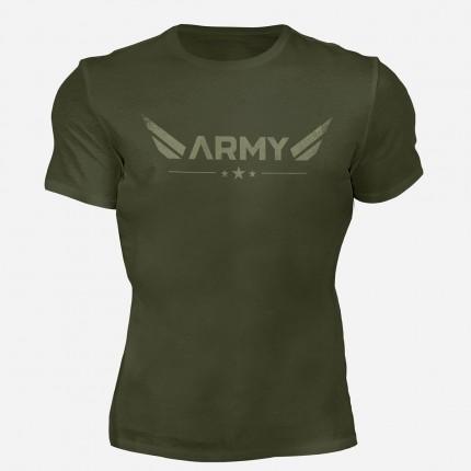 Pánská kolekce - MOTIVATED - Triko ARMY (zelená) 330