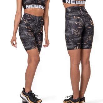 NEBBIA - Biker šortky Active Black 569 (volcanic black)