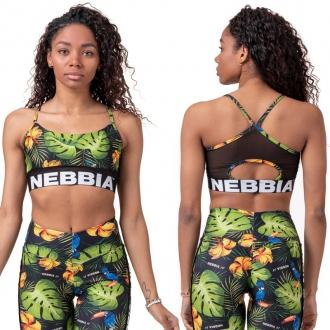 NEBBIA - Earth Powered sportovní podprsenka 565 (jungle green)