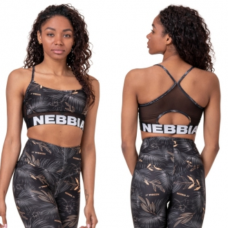 NEBBIA - Earth Powered sportovní podprsenka 565 (volcanic black)
