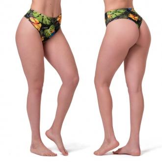 NEBBIA - Plavky s vysokym pasem - spodní díl 555 (jungle green)