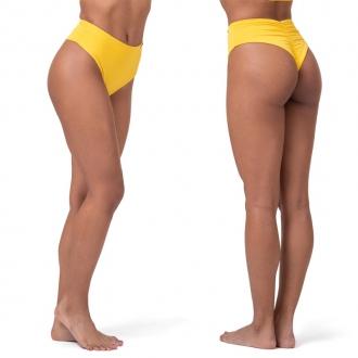 NEBBIA - Retro plavky s vysokým pasem - spodní díl 555 (yellow)