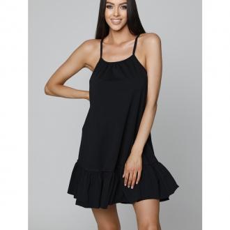 NDN - Dámské šaty s tenkými ramínky LUJZA (černá)