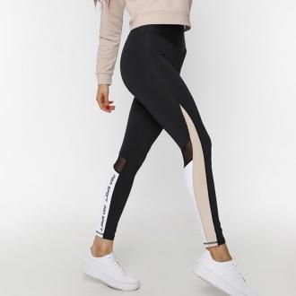 NDN - Legíny na fitness EMILI (černá-capuccino)