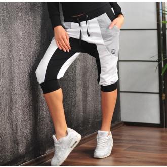 NDN - Dámske 3/4 pudlové kalhoty LEONA (černo-šedé)