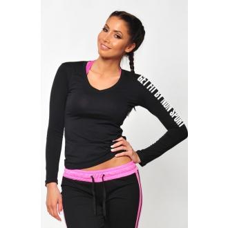 NDN - Fitness tričko s dlouhým rukávem SIMP (černá)