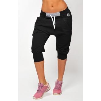 NDN - 3/4 dámské kalhoty s nízkým sedem ILLA (černá)