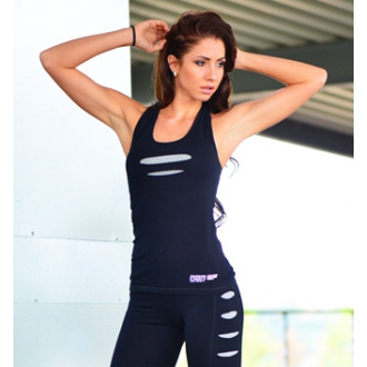 NDN - Bavlněné fitness tílko TIGER (šedý vzor)