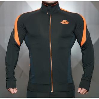 Body Engineers - Mikina se zipem ANAX (černá oranžová) 42f5578086