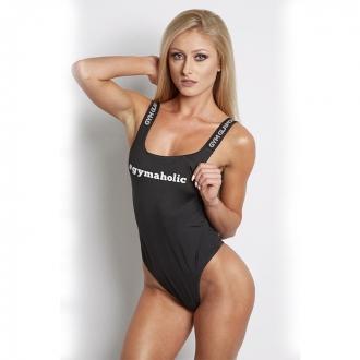 Gym Glamour - Dámske body tanga (černá) GG028