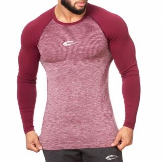 SMILODOX - Sportovní triko s dlouhým rukávem (bordo) 28081
