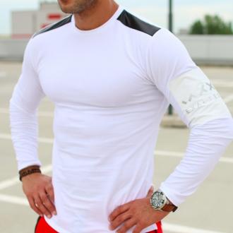 Exalted - Pánské triko s dlouhým rukávem L2 (bílá)