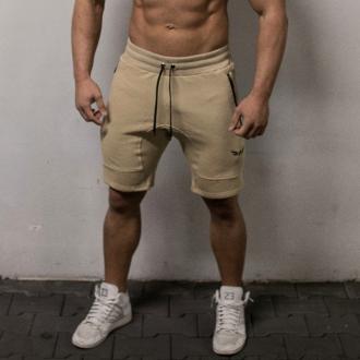 Exalted - Fitness šortky pánske X1 (creme)