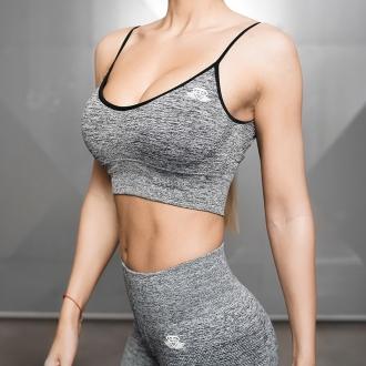 Body Engineers - Fitness podprsenka Valkyrie (černý melír) BEW061