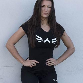 Exalted - Dámské fitness triko X1 (černá)