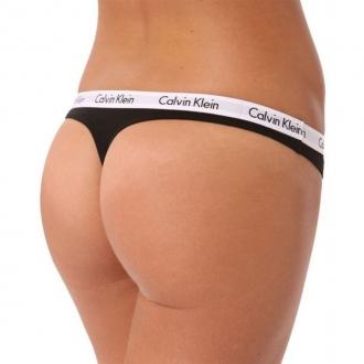 Calvin Klein - Dámská Tanga (černá) D1617E-001