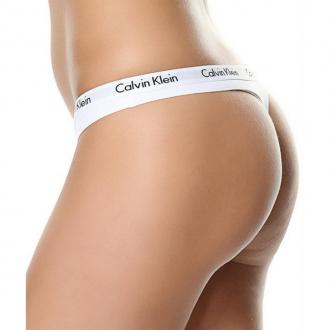 Calvin Klein - Dámská Tanga (bílá) D1617E-100
