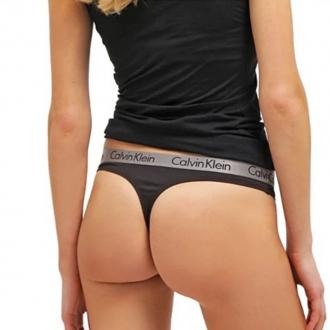Calvin Klein - Dámská Tanga (černá) QD3539E-001