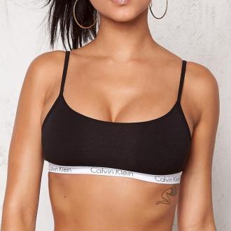 Calvin Klein - Sportovní podprsenka bez výztuže (černá) QF1536E-001