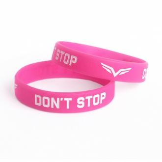 MOTIVATED - Dámský náramek Dont Stop (růžovo-bílá)