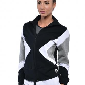 NDN - Dámská sportovní mikina SANNA (černo-bílá)