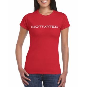 MOTIVATED - Dámské tričko 401 (červená)