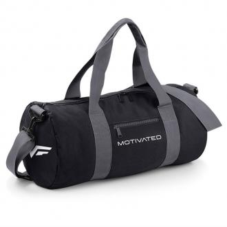 MOTIVATED - Sportovní taška (černo-šedá) 320