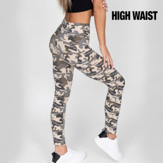 HUGZ - Push up jeggings maskáčové HW 305