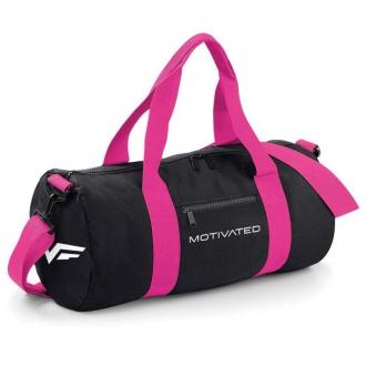 MOTIVATED - Sportovní taška dámská (černo-růžová) 413