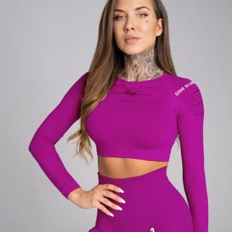 Gym Glamour - Crop top s dlouhým rukávem Flash SS19-GG1201