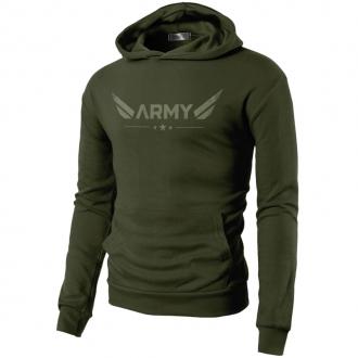 MOTIVATED - ARMY mikina (zelená) 329