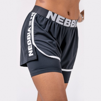 NEBBIA - Kraťasy dvouvrstvé 527 (black)