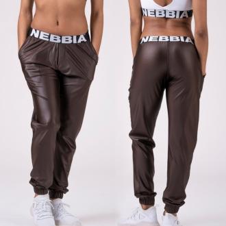 NEBBIA - Kalhoty DROP CROTCH 529 (brown)
