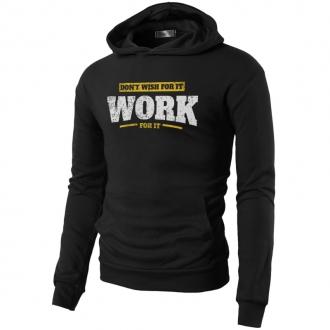 MOTIVATED - Mikina do posilovny WORK for it (černá) 339