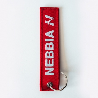 NEBBIA - Klíčenka Red LABEL (červená)