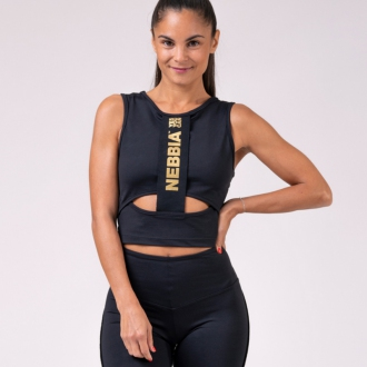 NEBBIA - Honey Bunny crop top 822 (black)