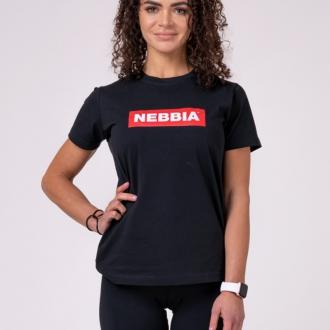 NEBBIA - Dámské tričko BASIC 592 (black)