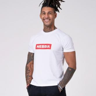 NEBBIA - Tričko pánské BASIC 593 (white)