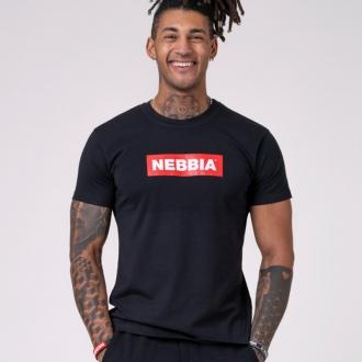 NEBBIA - Pánské tričko BASIC 593 (black)