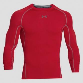 Under Armour - Kompresní tričko dlouhý rukáv pánské (červená) 1257471-600