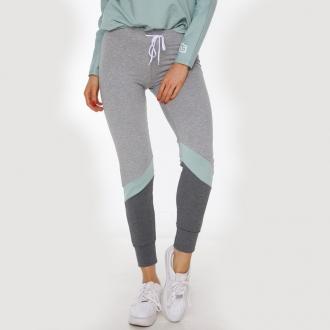 NDN - Dámske kalhoty NORKA (světlešedo-zelená)