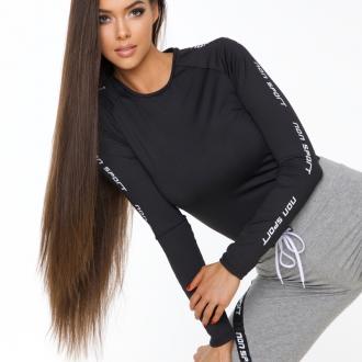 NDN - Funkční triko dlouhý rukáv dámské GERTI (černá)