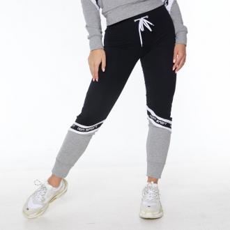 NDN - Fitness tepláky dámské AMILLA (černo-šedá)